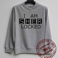 I Am Sherlocked Shirt weatshirt Sweater Hoodie Shirt – Size XS S M L XL