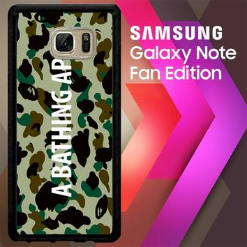 A Bathing Ape Teks On Texture J0057 Samsung Galaxy Note FE Fan Edition Case