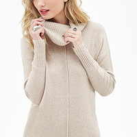 LOVE 21 Marled Cowl Neck Sweater