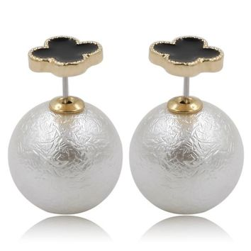 Mise en Dior Style Tribal v.s Van Cleef Earrings - Black & Venetian Silver