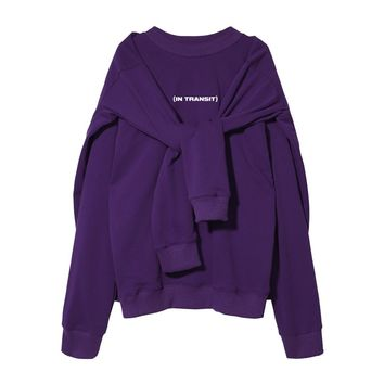 In Transit Double Pullover Sweatshirt | Purple
