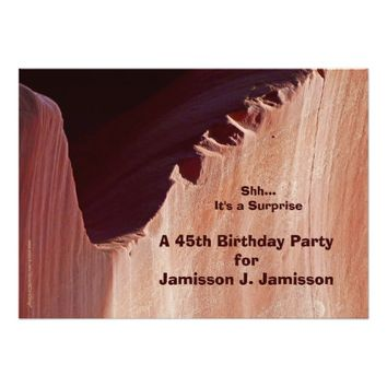 Surprise 45th Birthday Party Invitation Canyon