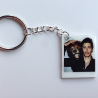 Polaroid James Franco with Bear Keychain