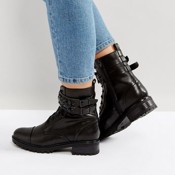 Miss KG Sax Jewelled Military Boots at asos.com