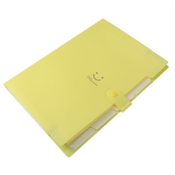 Plastic Paper Expanding File Folder Pockets Accordion Document Organizer with Snap Closure