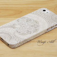 Cream Palace Floral iPhone 5 case / iPhone 5S case / iPhone 5C case / iPhone 4 case / iPhone 4S case