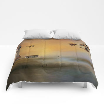 Homeward Bound Comforters by Theresa Campbell D'August Art