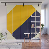 Yellow Blue Chamber Wall Mural by spaceandlines