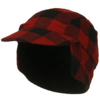 Fleece Lining Checker Trooper - Red Plaid