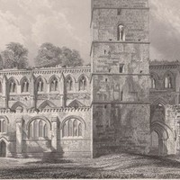 Antique Print Dunblane Cathedral Scotland (A19) by Grandpa's Market