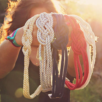 I Think Naut Nautical Knot Headband Your Choice of by Murabelle