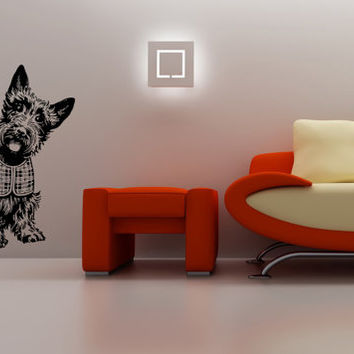 Scottish Terrier (Scottie) Dog Puppy Breed Pet Animal Family Wall Sticker Decal Mural 2884