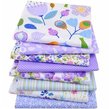 8pcs/lot Cotton Fabric Floral Tissue Cloth Of Handmade DIY Quilting Sewing Baby&Children Sheets Dress Material