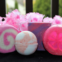 Love Spell Bubble Bar, Bath Bomb, Exfoliating Soap, Moisturizing Soap
