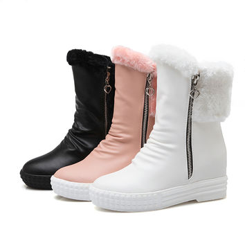 Zipper Fur Snow Boots Women Shoes Fall|Winter 2005