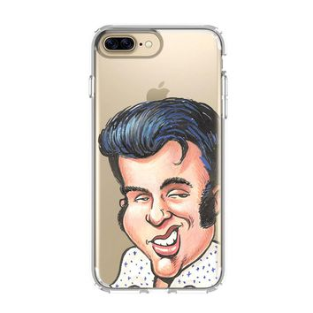 ELVIS PRESLEY CUTE FACE CLIPARTS iPhone 4/4S 5/5S/SE 5C 6/6S 7 8 Plus X Clear Case