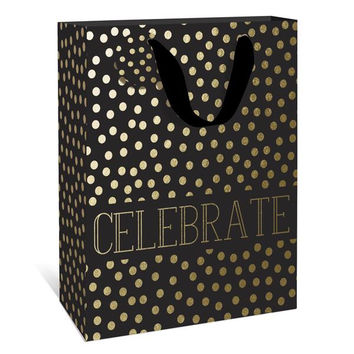 Gold Dots Medium Gift Bag