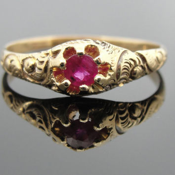Victorian Ruby Ladies Ring for Engagement or Promise... Or every day  RGRBY103D