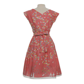 Beatrice Butterfly Dress With Capped Sleeves
