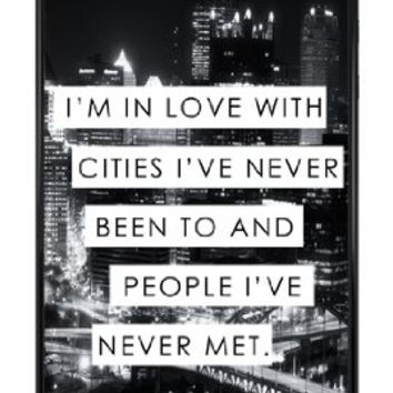 Cute Trendy City Life Love Quote Snap-On Cover Hard Plastic Case for iPhone 5/5S (Black)