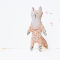 Sleepy Fox Softie Eco Doll - Mr. Fox Plushie Stuffed Toy - Woodland Animal Mascot