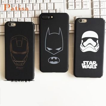 Maniron Man Ultra Thin Batman Case for iPhone5 8 8p 7 6 6S plus Star wars Storm trooper Ironman Cover hard PC phone Coque