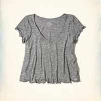 Girls Must-Have Crop Easy T-Shirt | Girls New Arrivals | HollisterCo.com