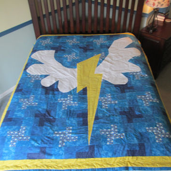 My Little Pony Friendship is Magic MLP FIM Wonderbolts Soarin Twin Size Quilt Bedding Blanket