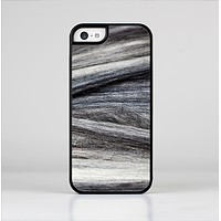 The Dark Colored Frizzy Texture Skin-Sert Case for the Apple iPhone 5c