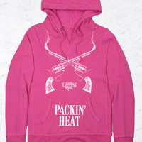 Women's CG V-Notch Fleece Hoodie - Packin Heat