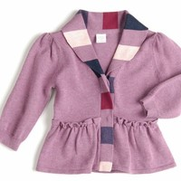 EGG BABY GIRL PEPLUM CARDIGAN