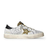 DCC3W Golden Goose May Crackled Black Sneakers