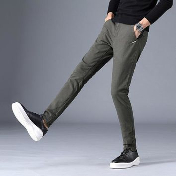 Men's Cotton Slim Fit Chinos Fashion Trousers