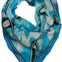 Colorful Square Scarf with Swirl Design | Neck Scarves