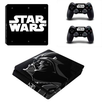 LMFON Vinly Skin Sticker Cover for Sony PS4 Slim PlayStation 4 SLIM Console and 2 controller skins - Star Wars