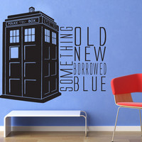 Something Blue - Doctor Who Wall Decal