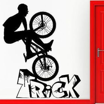 Wall Stickers Vinyl Decal BMX Biker Bike Extreme Sport Bicycle Decor  Unique Gift (z2370)