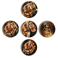 "The Hunger Games: Catching Fire Tributes 1 3/4"" Pin 5 Pack 