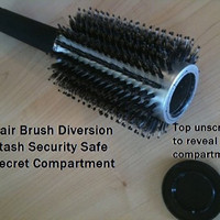 UNISHOW® New Arrival Professional Salon Safety Hidden Hair Brush Stash Safe Diversion Can Secret Container Hot Sell (black)