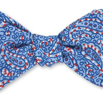 Blue Jefferson Paisley Bow Tie - B4127