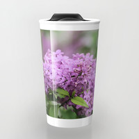 Lilac Bouquets Travel Mug by Theresa Campbell D'August Art