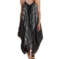 Bandanna Print Handkerchief Trapeze Dress