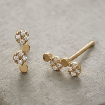 Tiered Dot Posts by Anthropologie in Gold Size: One Size Earrings