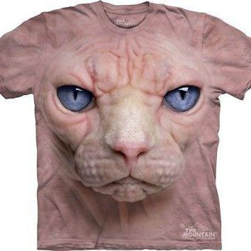 Big Face Hairless Cat T-Shirt