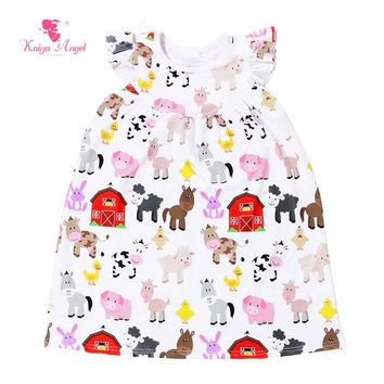 Farm House Cow Toddler Girl Clothing 1-9 Years