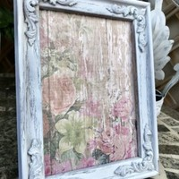 VINTAGE SHABBY CHIC WHITE PICTURE FRAME 5 x 7