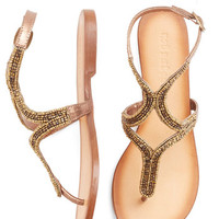 ModCloth Luxe Twinkling Toes Sandal in Bronze