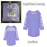 NEW in package VS PINK RELAXED FIT FOOTBALL TEE MEDIUM