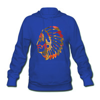Native American Indian Women's Hooded Sweatshirt - Women's Hooded Sweatshirt