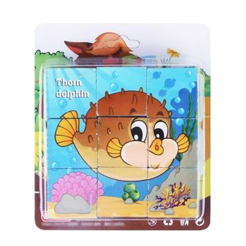 Educational Toy for Kids 3D Wooden Puzzle Jointed Board Cube Puzzle Building Block NO.13